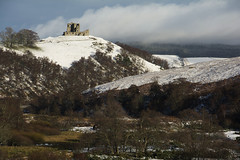 PJD_3033ps (Xpanding Horizons) Tags: trees winter snow castle scotland hill ruin moray auchindoun