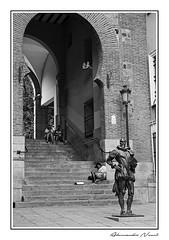 Toledo - street (Alessandro Nenci) Tags: street blackandwhite bw blackwhite spain poor streetphotography espana toledo lonely biancoenero spagna povero