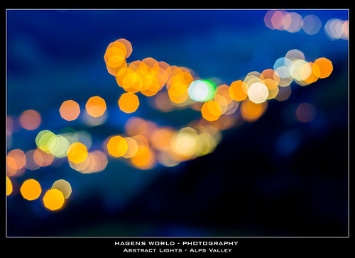Abstract Lights - Alps Valley