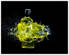 Exploding Yellow Bottle
