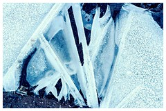 Ice sculpture (Macro light) Tags: worcestershire worcester rushwick winter water frozen ice puddles