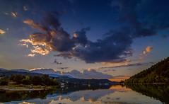 Sunset over Pancharevo dam (nickneykov) Tags: nikond7000 tokina1116mm landscape sunset sofia pancharevo dam bulgaria blue clouds