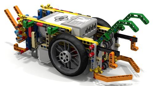 Lego Mindstorms EV3 FLL Robot Using Driving Rings