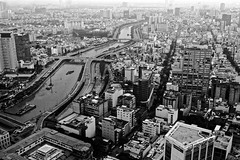 Ho-Chi-Minh-City from above (user1385679) Tags: hochimincity arial view city blackwhite above saigon