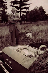 Ready For Burial (~ Lone Wadi Archives ~) Tags: death coffin casket corpse graveyard outdoors deceased postmortem unknown 1930s