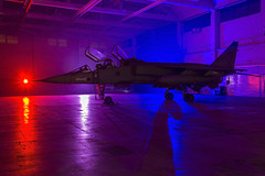 Painted Lady (Kev Gregory (General)) Tags: qinetiq t2 sepecat jaguar silhouetted colour coloured lights color time line events timeline photo charter raf royal air force boscombe down cosford kev gregory canon 7d