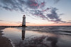 Talacre dusk (Paul-Farrell) Tags: talacre lighthouse northwales seascape dusk reflections beach