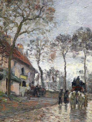 PISSARRO Camille,1870 - Diligence à Louveciennes (Orsay) - Detail 33