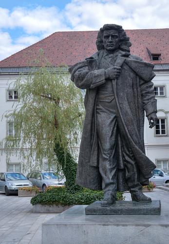 Kranj, France Prešeren monument