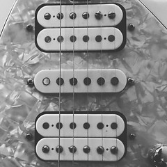 Humbucker Sandwich (Pennan_Brae) Tags: guitarstrings 6string sixstring instrument musicalinstrument music ernieball humbuckers pickups guitar electricguitar humbucker