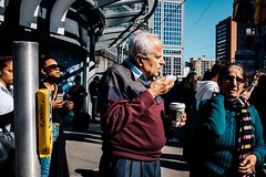 Untitled (Dominic Bugatto) Tags: dundasste dundassquare downtown toronto torontotopography streetphotography fujifilmx100s 2016 summer