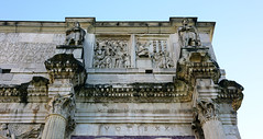Reliefs showing Imperial largess (left) and submission (right), era of Marcus Aurelius (or Commodus), Arch of Constantine (north)