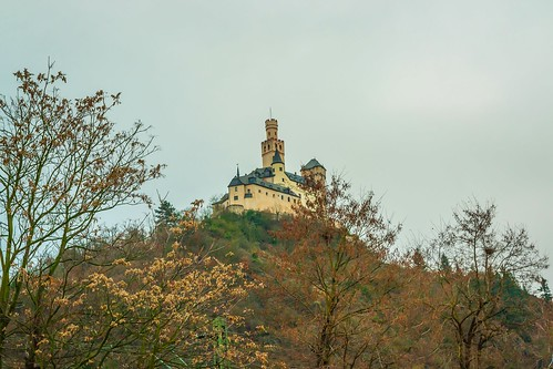 Marksburg castle, the Rhine River Valley, Rheiland-Pfalz, Germany
