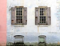 Restoration--a color quandary:  Wentworth Street, Charleston, SC (Spencer Means) Tags: dwwg window shutters wall wood wooden street wentworth charleston southcarolina sc city urban