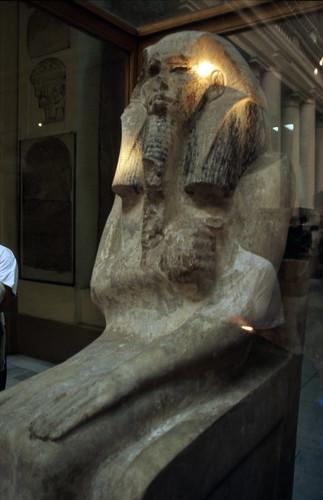 """Ägypten 1999 (606) Kairo: Djoser-Sitzstatue, Ägyptisches Museum • <a style=""""font-size:0.8em;"""" href=""""http://www.flickr.com/photos/69570948@N04/31932565092/"""" target=""""_blank"""">View on Flickr</a>"""