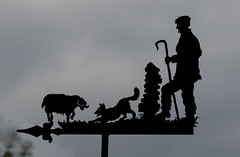 Lakeland Shepherd, dog and sheep - weather vane (DP the snapper) Tags: hegglehead dog crook sheep lakedistrict animals shepherd weathervane