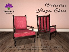 Thistle Valentine Hayes Chair (Liz Gealach) Tags: thistle homes lizgealach sl second life secondlife chair furniture hayes valentinesday pink deco decor interior design