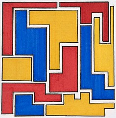 Colour Blocks (Abstrakt 777) Tags: art blocks colorblock colourblock mondrian abstract abstractart colourful colorful modernart postmodernart drawing