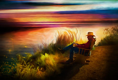 I Once Met a Cowboy in Big Sur.... (D'ArcyG) Tags: bigsur pacific ocean sunset sea california seacoast vivid impression