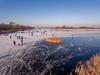 Schaatsen op Ankeveen (Gooi en Eemland van Boven by Jacques de Kort) Tags: phantom4 drone bergsepad naturalice natuurijs iceskating schaatsen ankeveen nederland netherlands