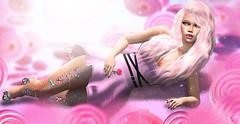Lollipop baby (meriluu17) Tags: astralia monalisa ml stealthic catwa pink pastel dress tulle laying portrait light lights shadow lollipop candy sweet baby cute girl indoor people