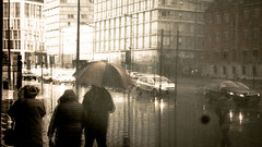 Liverpool (Mark Dickens) Tags: liverpool city traffic rain umbrella reflections