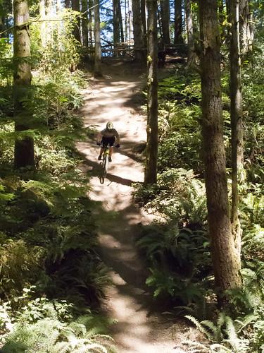 Nate on the stupid-steep downhill