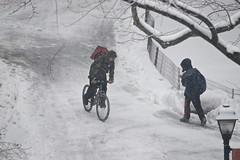 Bold biker (librarian7**) Tags: usa snow newyork nikon nikkor 80400mmf4556dvr