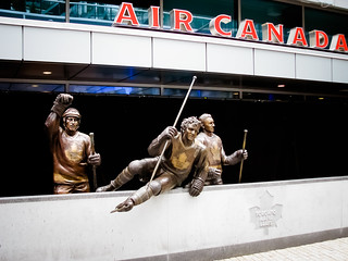 Borje Salming, Darryl Sittler, and  Ted Kennedy@ Legends Row at Air Canada Centre