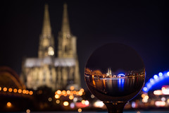 Cologne crystal ball (bachmann_chr) Tags: river deutschland long exposure cathedral crystal dom cologne köln nrw rhine rhein langzeit kristallkugel