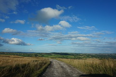 (EnchantedWhispers) Tags: blue england sky cloud sun house mist plant building tree tower nature wet field grass electric skyscape landscape high power view bradford wind outdoor air hill scene calm hike clear oxygen creation backdrop moors breeze moor scape grassland surrounding extra baildon