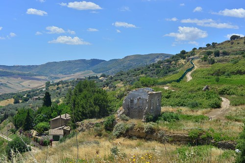 Modern ruins at Morgantina