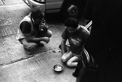 (David Davidoff) Tags: life street people monochrome blackwhite analogue lightshadow fomapan streetbeggar leicam3rangefindercamera