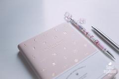 DSC01547 (sweetimpatience) Tags: notebook gold calendar hellokitty diary almanac babypink wannabediary