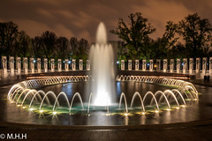 National World War II Memorial (m_hamad) Tags: park longexposure usa architecture canon washingtondc dc washington nationalpark outdoor explore f16 worldwarii longshutter starburst nationalgeographic worldwariimemorial greatnature ultimateshot starbursteffect 7dmkii blinkagain instagramapp