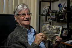 Bomber Command veteran Denis Kelly (kookabat) Tags: france wwii melbourne lancaster veteran interview ibcc evader bombercommand