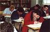 Matt Crosta, Nick Maloney, Ian Kelly, Adam Azevedo, and Mark Ciccone - 2002 (BC High Archives) Tags: classroom academics ciccone azevedo kellyian maloneynick crostamatt
