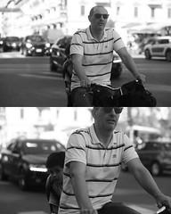 [La Mia Citt][Pedala] (Urca) Tags: portrait blackandwhite bw bike bicycle italia milano bn ciclista biancoenero mir bicicletta 2015 pedalare dittico ritrattostradale 77419 nikondigitae