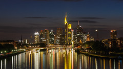 Frankfurt Skyline enlightened