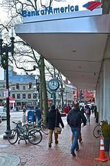 Striding Through Harvard Square (AntyDiluvian) Tags: boston massachusetts cambridge harvardsquare massave massachusettsavenue sidewalk striding