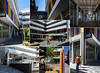 Just Opened (Jocey K) Tags: christchurch newzealand southisland rebuild archtiecture buildings people sky cbd city trees colour workmen cashelsquare bnzcentrecashelsquare