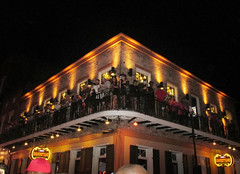 Night Building (shaire productions) Tags: neworleans nola image picture photo photograph photography imagery travel event halloween bourbonstreet costumes night building