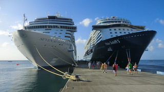 2 majestic Cruise Ships @ St. George, Grenada