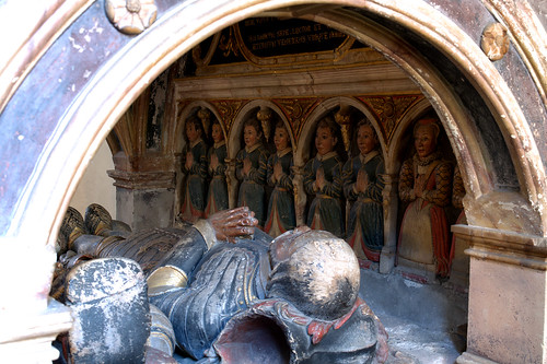 Montgomery, Powys, St. Nicholas's Parish Church, monument to Richard Herbert †1596, detail
