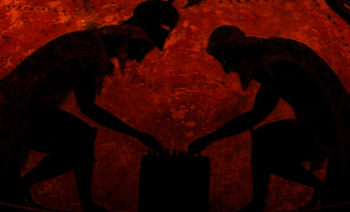 "Petteia - Ludus Latrunculorum  / Iconografía de las civilizaciones helenolatinas • <a style=""font-size:0.8em;"" href=""http://www.flickr.com/photos/30735181@N00/31678497944/"" target=""_blank"">View on Flickr</a>"