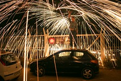 Chispitas (Mystique154) Tags: nocturnas fuego noche nocturno luz lanadeacero longexposure largaexposición coche fire circle círculo canon70d canon24mm28stm steelwool