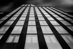 ... urbanhills III ... (*ines_maria) Tags: vienna architecture justizzentrum urban city urbanart tower lookingup blacksky bw mono monochrome panasonicdmcgx8 architektur