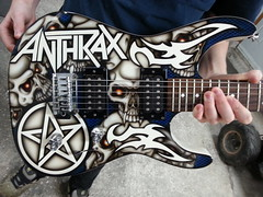 "Anthrax Guitar (""Gutz"") Tags: anthrax guitar scott ian jackson heavy metal big 4 custom paint airbrush airbrushed airbrushing"