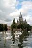 Metz (2011) (Robert Claessens) Tags: robert bob claessens metz france cygne swan zwaan reflections