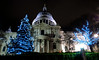 Christmas at St. Paul's (Serge Freeman) Tags: london england greatbritain uk stpaulscathedral cathedral christmas christmastree christmaslights night citylife
